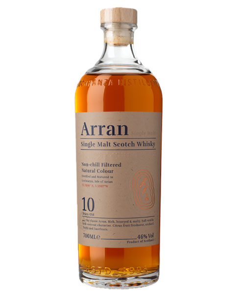 Ungefiltert und ungefärbt: Arran 10 Years Old Single Malt Scotch Whisky