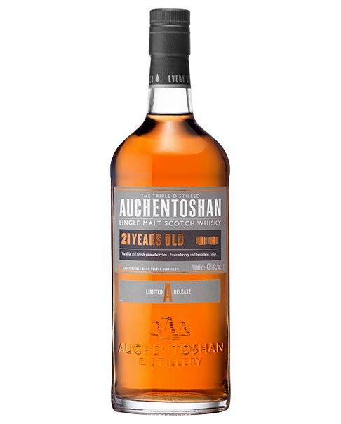 Reift 21 Jahre im Bourbon- und Sherryfass: Auchentoshan 21 Single Malt Scotch Whisky