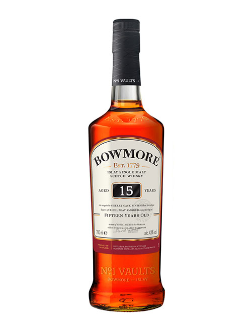 15-jähriger Single Malt aus der Core Range: Bowmore Aged 15 Years Islay Single Malt Scotch Whisky
