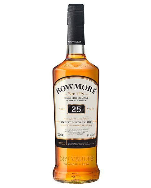 Reift ein Vierteljahrhundert im Bourbon- und Sherryfass: Bowmore Aged 25 Years Islay Single Malt Scotch Whisky
