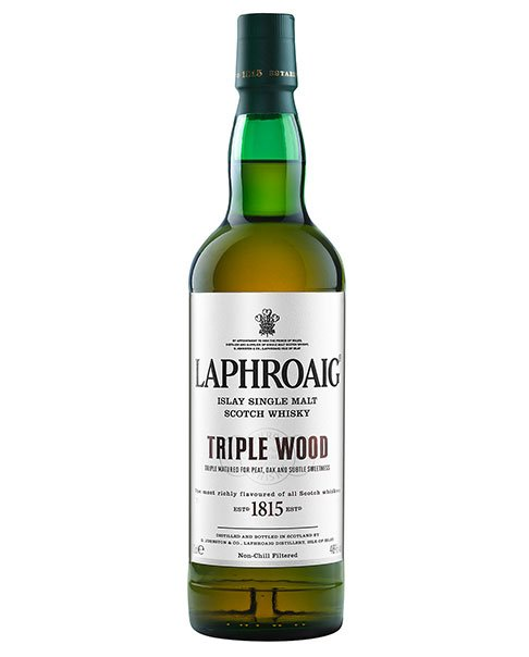 Rauchiges Aroma und in drei Fassarten gereift: Laphroaig Triple Wood Single Malt Scotch Whisky