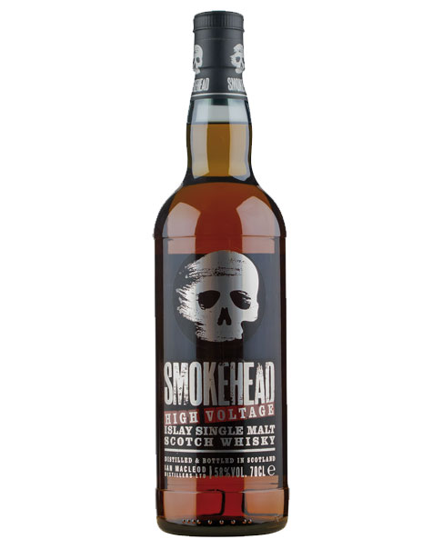 Intensiv-kräftiger Malt von Ian Mac Leod mit starkem Rauch: Smokehead High Voltage Islay Single Malt Scotch Whisky