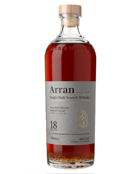 Ungefiltert und ungefärbt: Arran 18 Years Old Single Malt Scotch Whisky