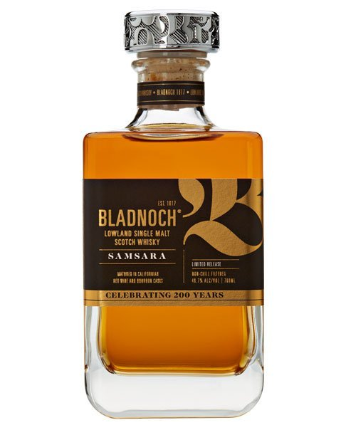 Erhält sein fruchtig-süßes Aroma durch die Fassreife im Bourbon- und Rotwein-Fass: Bladnoch Samsara