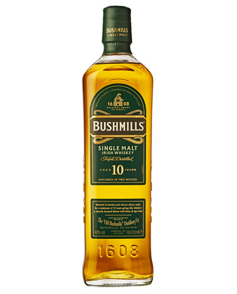 10 Jahre gereifter Whisky aus Irland: Bushmills 10 Single Malt Irish Whiskey