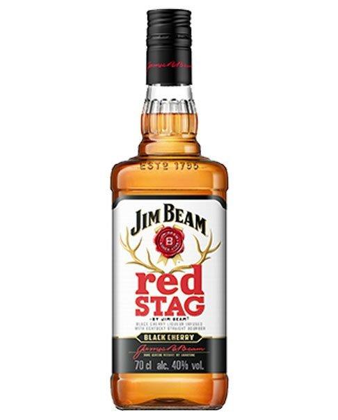 Whisky-Likör aus den USA mit Kirschgeschmack: Jim Beam Red Stag