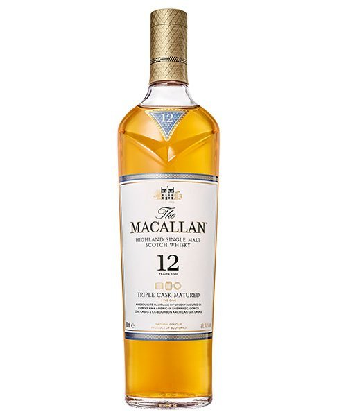 Kombination aus drei Fassarten: Macallan 12 Years Old Triple Cask Highland Single Malt Scotch Whisky