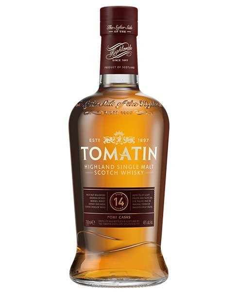 Reift 14 Jahre in Portwein-Fässern: Tomatin 14 Highland Single Malt Scotch Whisky
