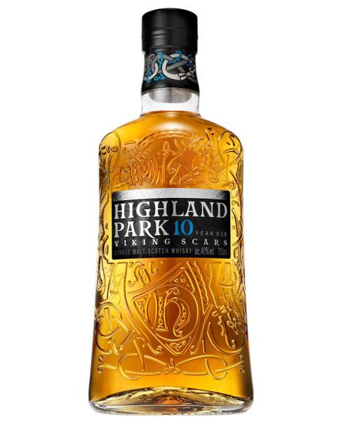 10 Jahre gereifter Single Malt: Highland Park 10 Years Old Viking Scars