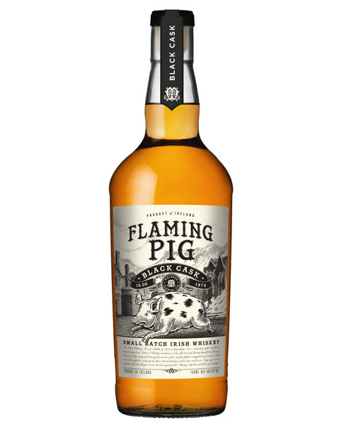 Mild-weicher Blended Whisky aus Irland: Flaming Pig Black Cask