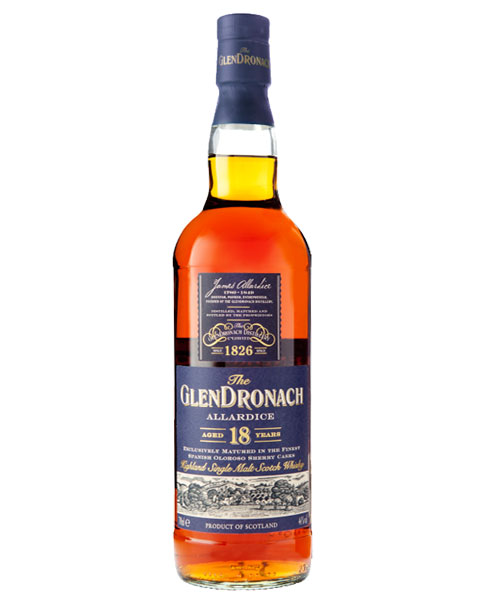 Benannt nach Glendronach-Gründer James Allardice: Glendronach Allardice Aged 18 Years Highland Single Malt Scotch Whisky