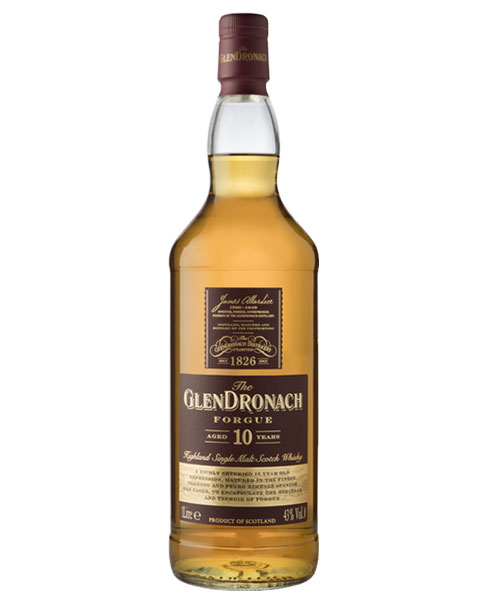 Benannt nach der Heimat der Destillerie: Glendronach Forgue 10 Highland Single Malt Scotch Whisky