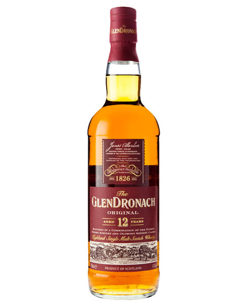 Reift im Oloroso- und im Ximenez-Fass: Glendronach Aged 12 Years Highland Single Malt Scotch Whisky