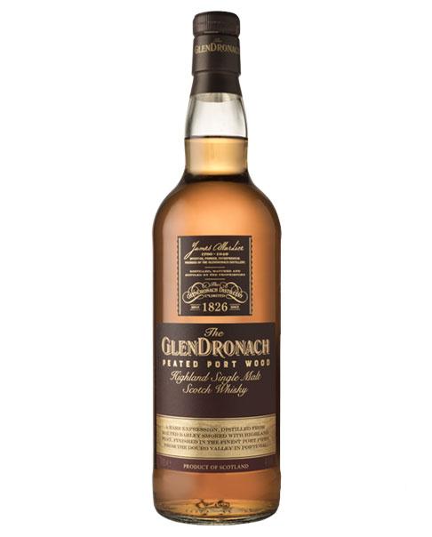 Reift 10 Jahre und erhält ein Finish im Portwein-Fass: Glendronach Peated Port Wood 10 Highland Single Malt Whisky
