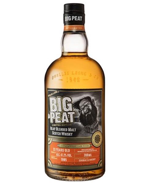 Auf 1.500 Flaschen begrenzte Limited Edition aus dem Cognac- & Sherry-Fass: Big Peat 33 Limited Edition