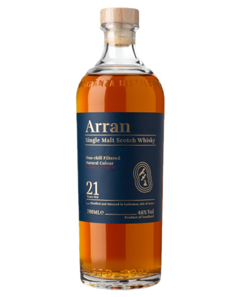 21 Jahre gereift, ungefiltert, ungefärbt: Arran 21 Years Old Single Malt Scotch Whisky