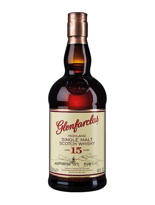 Beliebter Sherry-Whisky der Brennerei: Glenfarclas Aged 15 Years Highland Single Malt Scotch Whisky
