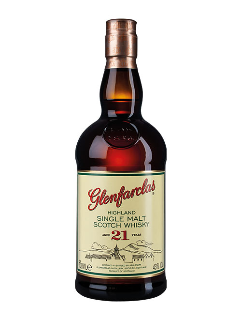 Grundsolides Sherry-Brett der Traditions-Brennerei: Glenfarclas Aged 21 Years Highland Single Malt Scotch Whisky