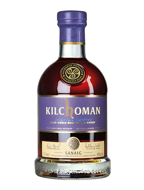 Nas-Whisky aus dem Bourbon- und Sherry-Fass: Kilchoman Sanaig Islay Single Malt Scotch Whisky